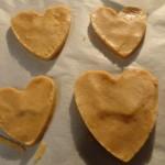 Biscuits palets bretons en forme de coeur