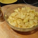 Pommes saupoudrées de cannelle