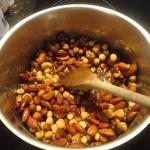 Cuisson caramel amandes noisettes