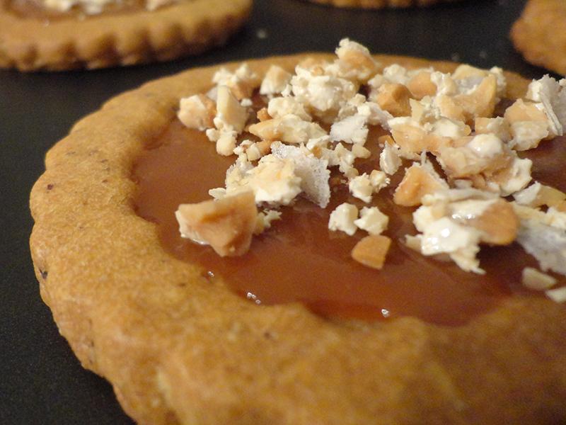 Sablés caramel aux éclats de nougat