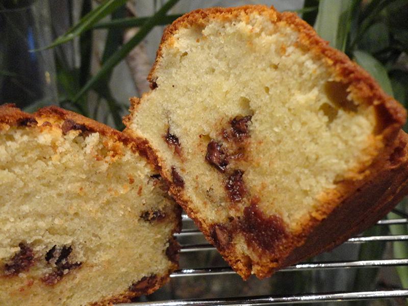 Cake infiniment vanille de Pierre Hermé aux pépites de chocolat