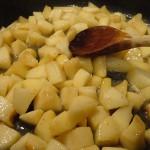 Gâteau de crêpes spéculoos et pommes fondantes