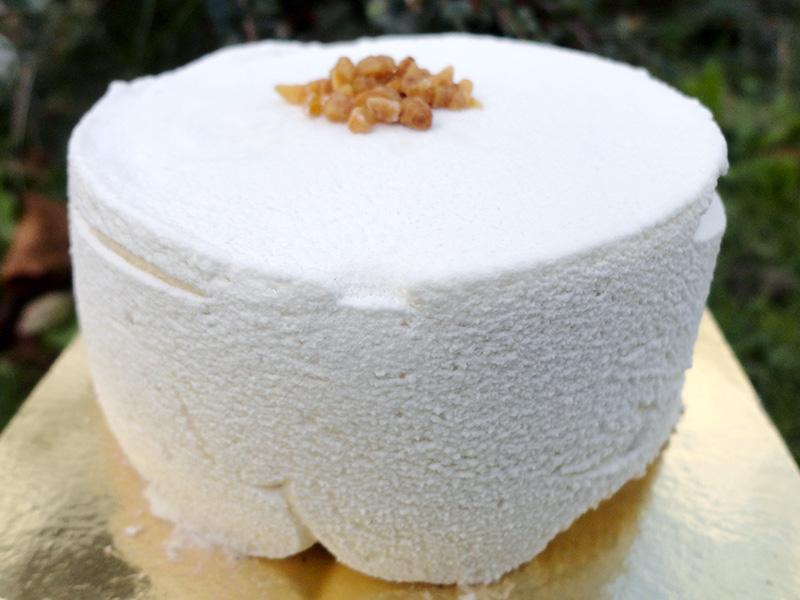 Entremet crème de marrons caramel beurre salé