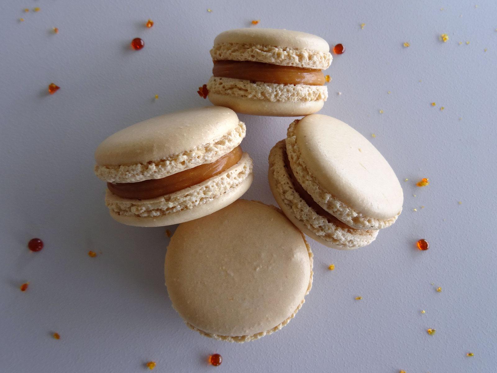 Macarons caramel beurre salé de Christophe Felder