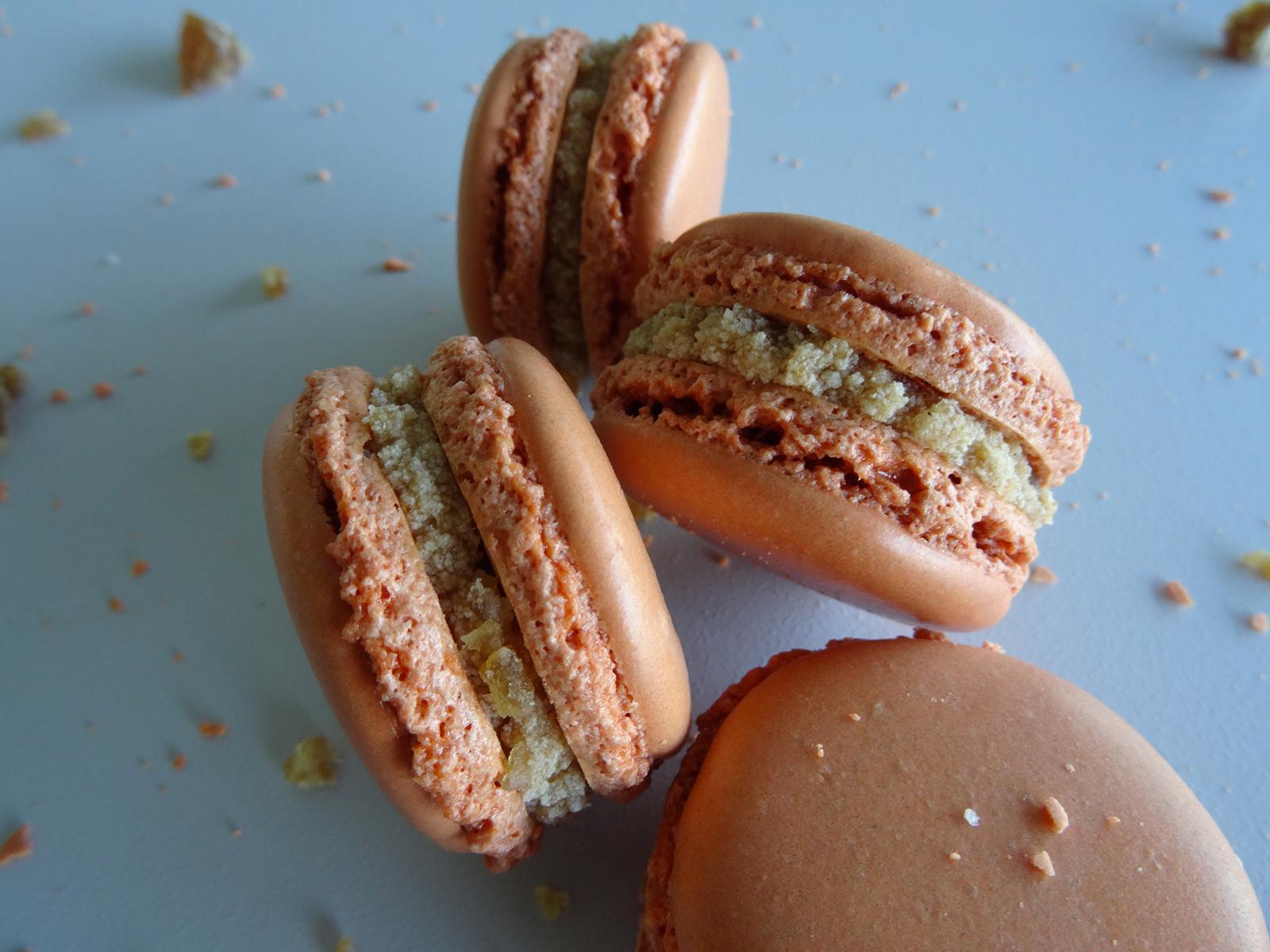 Macarons crème de marrons – rhum
