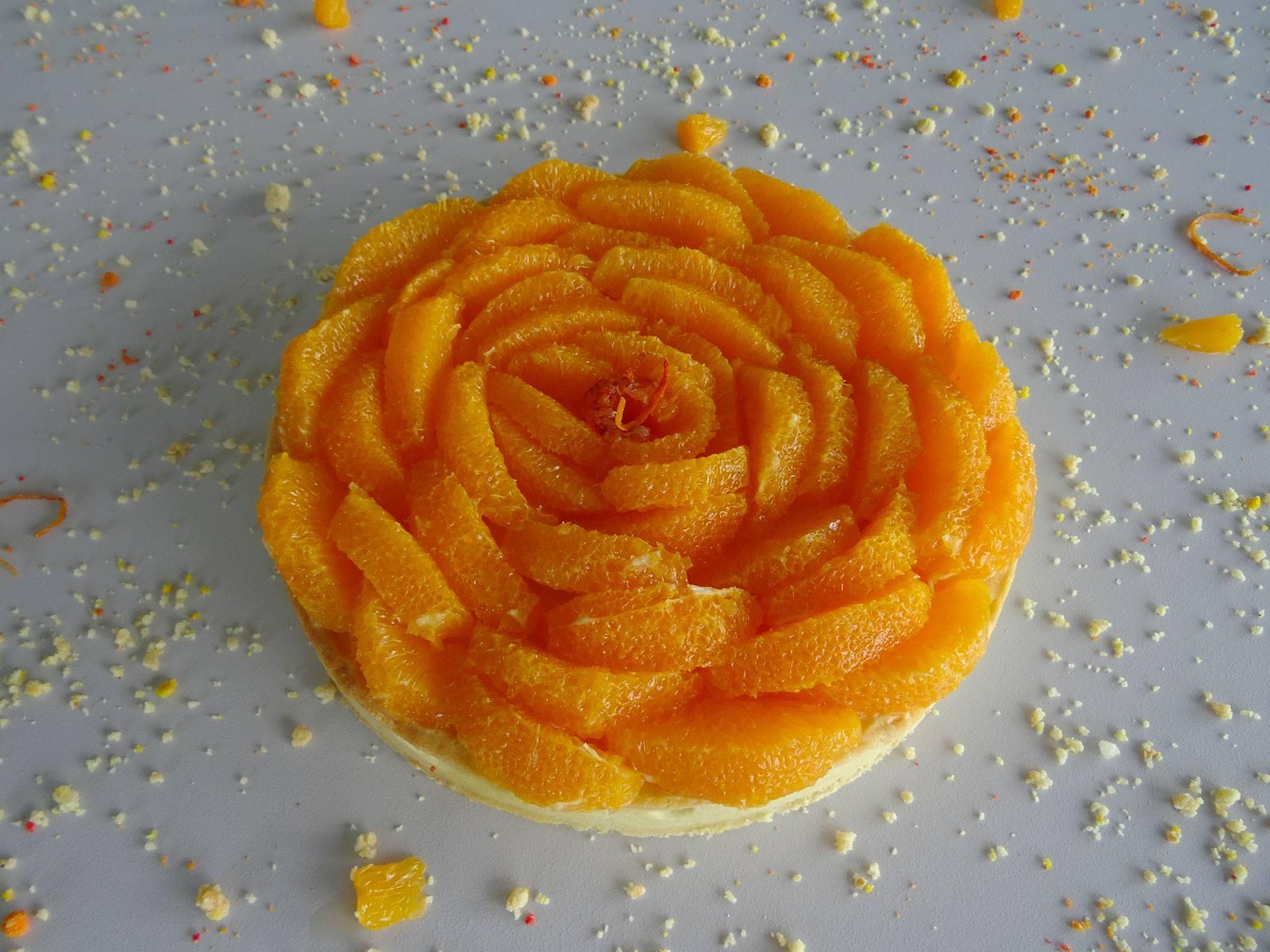 Tarte aux suprêmes d'orange