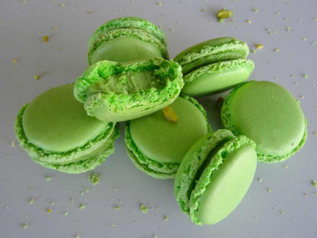 Macarons pistache façon Pierre Hermé