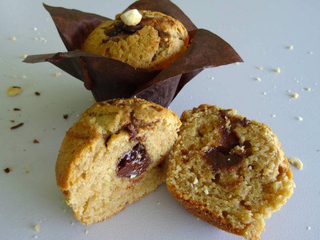 Muffins noisettes choco-café